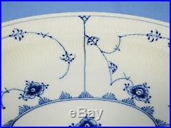 Lot 3 VTG Royal Copenhagen Blue Fluted Half Lace Dishes Oval Platter Bowl Plate