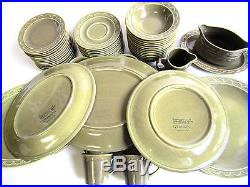 Lot of 63 Sheffield Granada Vintage Homer Laughlin Dinner Plates Cups Bowls EUC