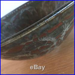 Louis Mideke Famous Pacific NW Pottery Hand Thrown Vintage Bowl Brown Tan Red