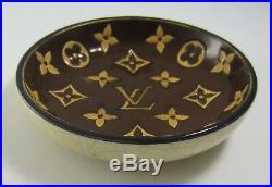Louis Vuitton Vintage Longwy Special Edition Ceramic Ashtray Trinket Dish Bowl