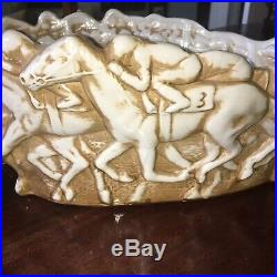 Louisville Stoneware Embossed Running Horse Bowl Vintage Mint Condition