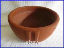 Lovely vintage Early California BAUER Redware INDIAN BOWL Planter POT #8