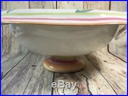 Mackenzie Childs Fish Pedestal Serving Bowl Vintage