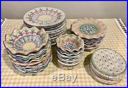 Mackenzie-Childs Lot of Vintage Dishes, Bowls, Plates, China, Pottery