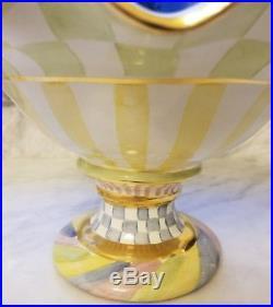 Mackenzie Childs Multi Honeymoon Pedestal Compote Bowl VINTAGE