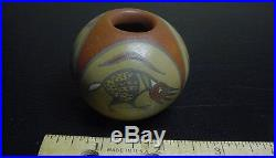 Margaret & Luther Gutierrez Vintage Polychrome Santa Clara Painted Fetish Bowl