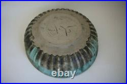 McCarty Jade Merigold Vtg Studio Pottery Mississippi Mud Large Bowl Nutmeg 14