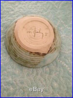McCarty Pottery VINTAGE ESTATE SALE 9 1/2 JADE GLAZE Vegetable Bowl