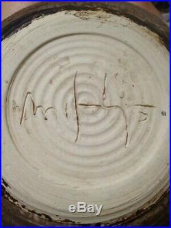 McCarty Pottery VINTAGE ESTATE SALE 9 1/2 NUTMEG Vegetable Bowl 30 AROUND