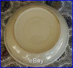 McCoy Pottery PINK & BLUE STRIPES MIXING BOWLS Nest of 3 14 12 10 VINTAGE