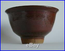 Michael Casson studio pottery Vintage retro footed bowl with makers mark
