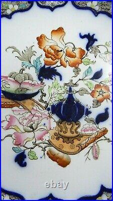Minton & Hollins Imari Hand Painted Antique Ironstone Pottery Comport Bowl Dish