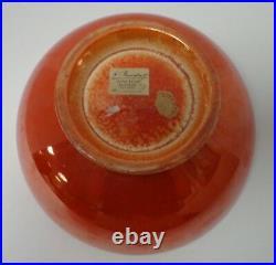 Moorcroft Vintage Orange Lustre Labelled Burslem Bowl