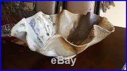 Nancy Dudchenko Studio Art Pottery Large Center Bowl Vintage