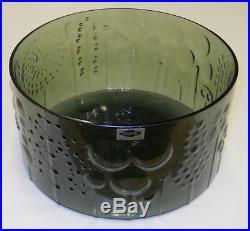 Oiva Toikka Vintage Huge Grey Flora Bowl Iittala Nuutajarvi Finland