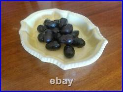 Olives majolica dish vintage studio Figueres Provence ceramics trompe l'oeil