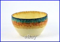 Original Art Deco Vintage Clarice Cliff Pottery Bizarre Bowl Wilkinson England