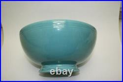 Original Vintage Fiesta Turquoise Footed Salad Bowl