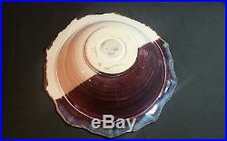 Platter Bowl And Pitcher Pottery Set Vintage Very Large, Signed