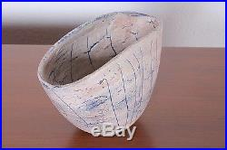 POLIA WILLIAM PILLIN Vtg Mid Century Modern Ceramic Pottery Lava Vase Bowl Italy