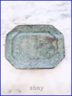 Peters Pottery Mound Bayou Mississippi McCarty Protege Vintage Jade Platter Mint