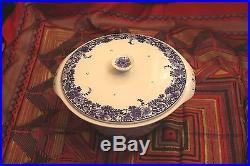 Porceleyne Fles Royal Blue Delft Vintage Antique Covered Bowl Casserole