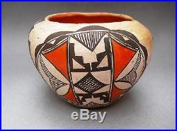 QUARANTINE SALE Vintage ACOMA SEED JAR Polychrome Pottery Bowl RARE