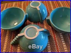 RARE 4 Vintage Postmodern Tea Cup Pierre Casenove Salins Studio France Art Deco