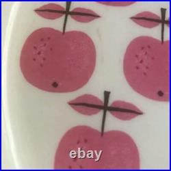 RARE GUSTAVSBERG PALL Plate Bowl Sweden Stig Lindberg Pink Apple Vintage Dish