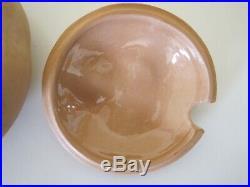 RARE / HTF Vintage ELSA PERETTI Terracotta Bowl withLid TIFFANY No Tassel Italy 5