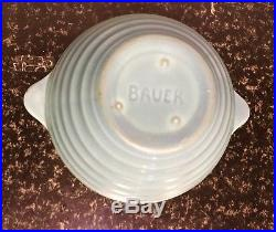 RARE Vintage 1920's Or earlier Bauer Pottery Bowl Turquoise(Hand Thrown)2 3/4