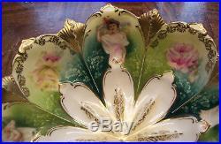 RARE Vintage Antique Original RS Prussia Bowl Four Beauty Portrait Estate Item