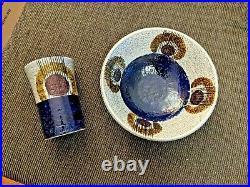 RARE Vintage Pair of Rörstrand Kurbits Vase and Bowl OLLE ALBERIUS MCM 2 pcs