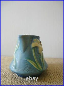 RARE! Vintage Roseville Bermuda Blue Zephyr Lily Open Sugar Bowl& Creamer