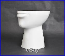 RAYMOR Vtg Mid Century Modern Ceramic Pottery FACE Bowl Vase Italy Bitossi Londi