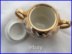 Rare Condition! Vintage Sadler Teapot, Sugar Bowl & Milk Jug Gold Lustre 1600