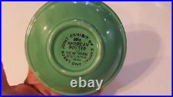 Rare Fiesta four Seasons SPRING GREEN bowl 1940 American Potter World's Fair