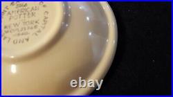 Rare Fiesta four Seasons WINTER WHITE bowl 1940 American Potter World's Fair