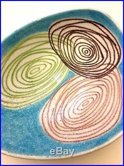 Rare LARGE Vtg 1950s GUIDO GAMBONE Mid Century MODERN Raymor ART Vase Bowl MINT