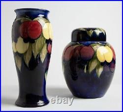 Rare Large Vintage Moorcroft Vase & Jar Set Signed