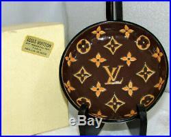 Rare Louis Vuitton Vintage French Enamel Porcelain Cigar Bowl By Longwy France