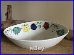 Rare Rörstrand Picknick large serving bowl Vintage 1950s Swedish design