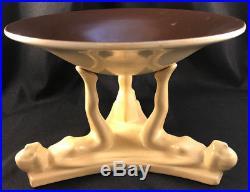 Rare! Vintage 572 Rumrill Redwing Pottery 2 Piece Centerpiece Art Deco Bowl Base
