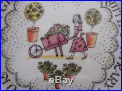Rare Vintage Emma Bridgewater Spongeware Mary Quite Contrary Set Bowl Plate Mug