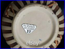 Rare Vintage Estate Roseville Pottery Rosecraft Brown Bowl 142-6 Hard-to-find