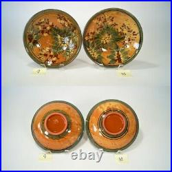 Rare Vintage FF Griffi Cassis Corsica Terracotta Handpainted Coupe Soup Bowl