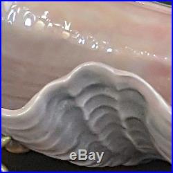 Rare Vintage Florence Ceramics Pasadena Figurine Mermaids with Shell Bowl Set