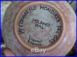 Rare Vintage Italian Art Ware Bottega Vignoli Faenza Bowl Special Commission