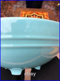 Rare Vintage PACIFIC POTTERY 13 Blue Footed BOWL Excellent! #314 turquoise
