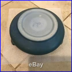 Rare Vintage Rookwood Pottery Blue Three Handled Low Form Bowl 1223